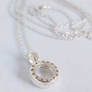 Pandora Lockets Logo Necklace Small